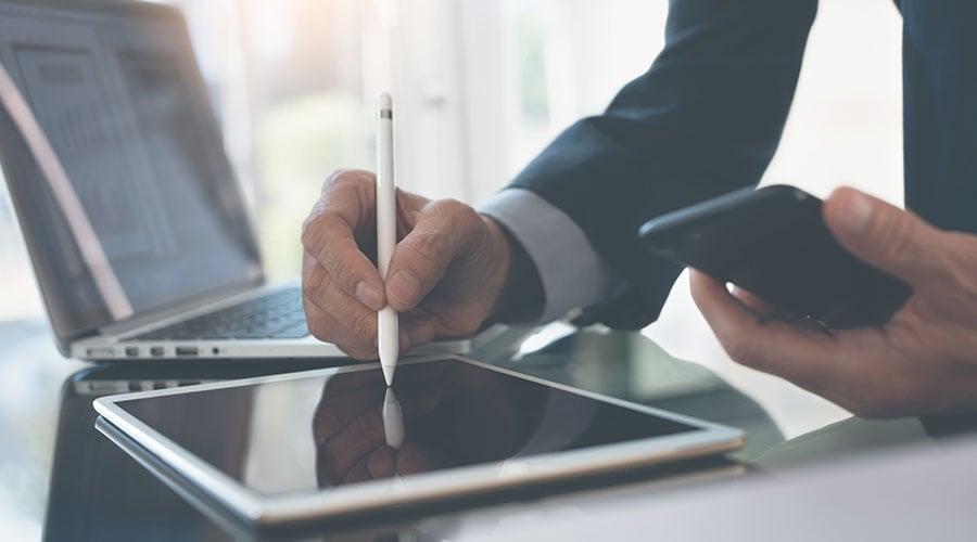 digital boligforvaltning på nettbrett